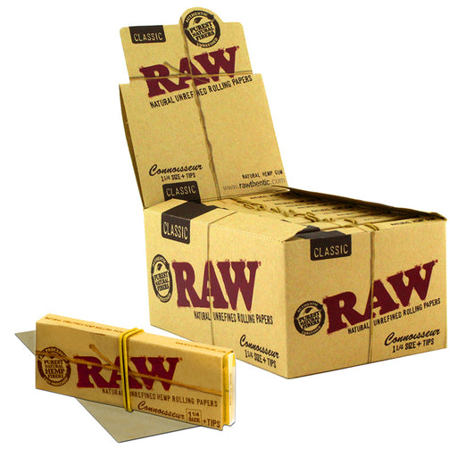 "Raw Classic Connoisseur 1 1/4"" Size Rolling Paper - Smoketokes"