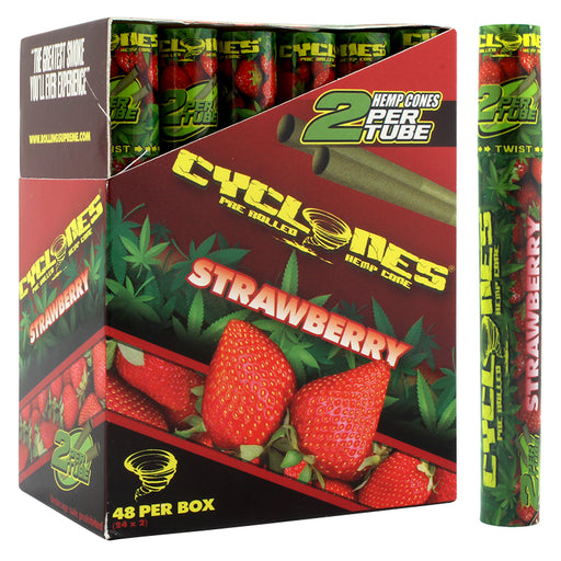 Cyclones Hemp Cone Strawberry Flavor - Smoketokes