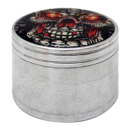 Aluminum 4 Part Assorted Sticker 57mm Grinder - Smoketokes