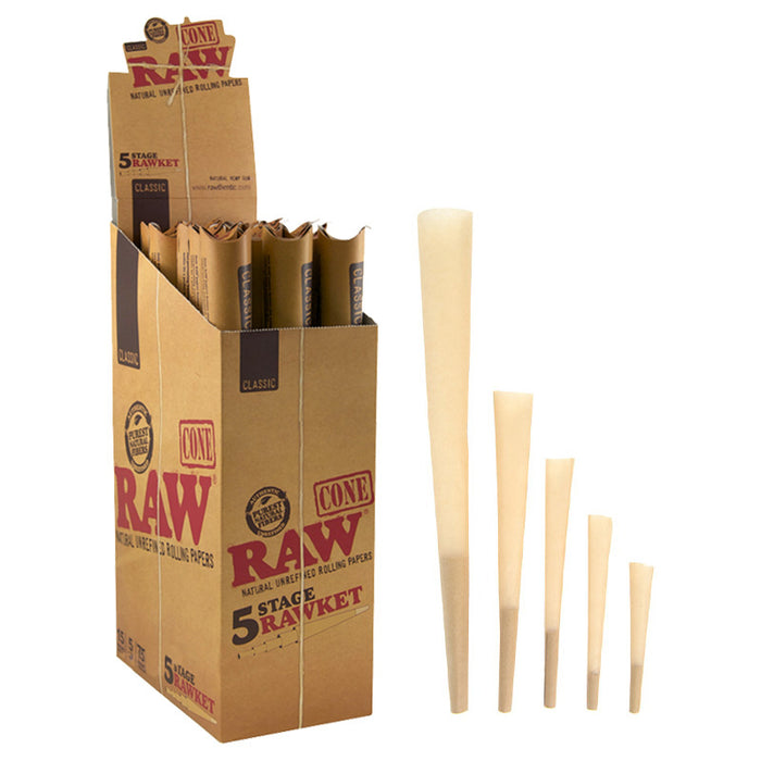 Raw Classic 5 Stage Rawket Pre-Rolled Cone - Smoketokes