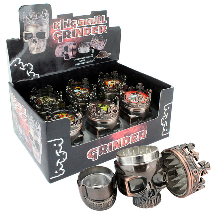 "3pt 1.75"" Skull Grinder Display - Smoketokes"