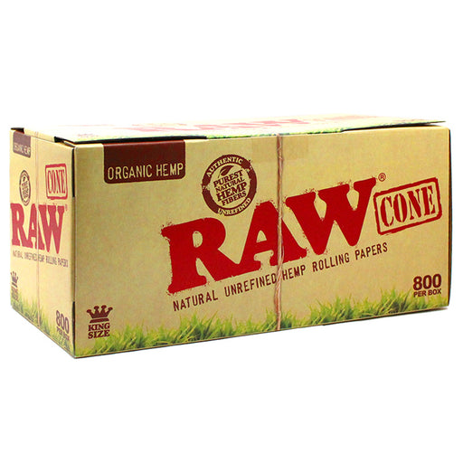 Raw Organic Hemp King Size Pre-Rolled Cone 800ct - Smoketokes