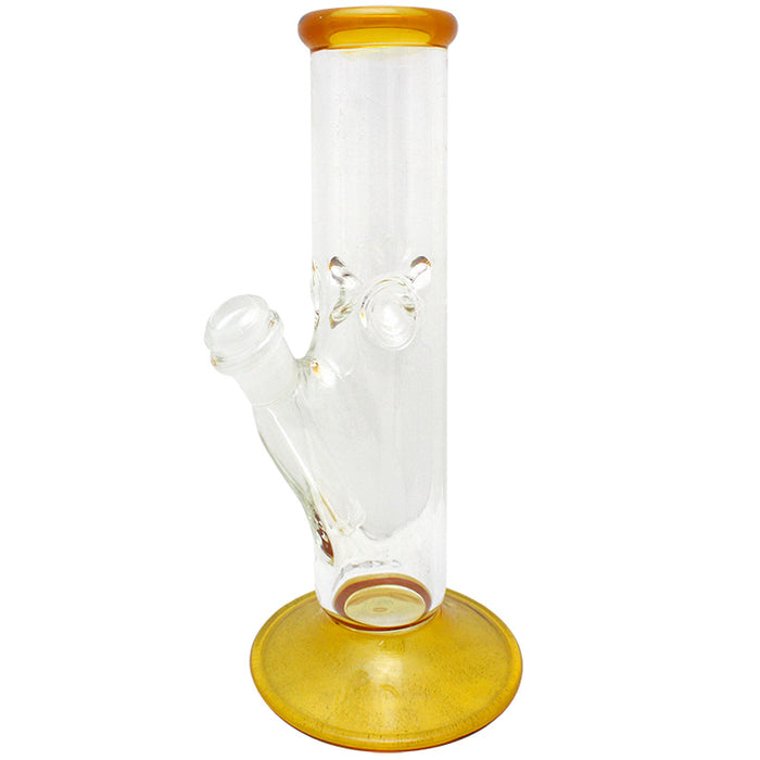 "9"" Straight Glass on Glass Water Pipe - Smoketokes"
