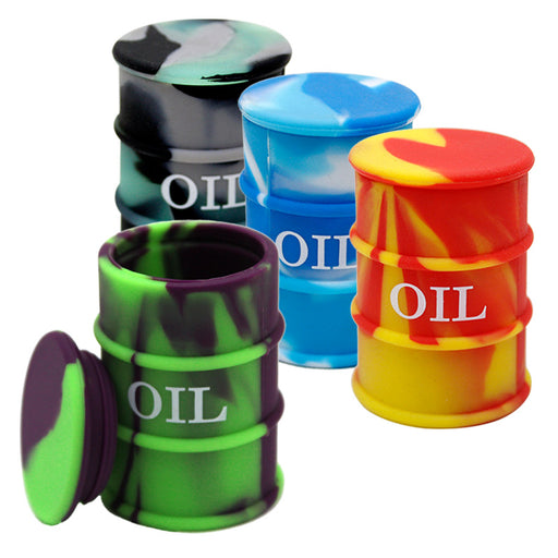 26ml Oil Barrel Silicone Jar - Smoketokes