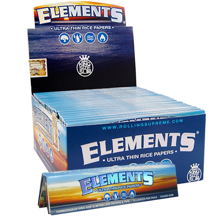 Elements King Size Slim Rolling Paper - Smoketokes