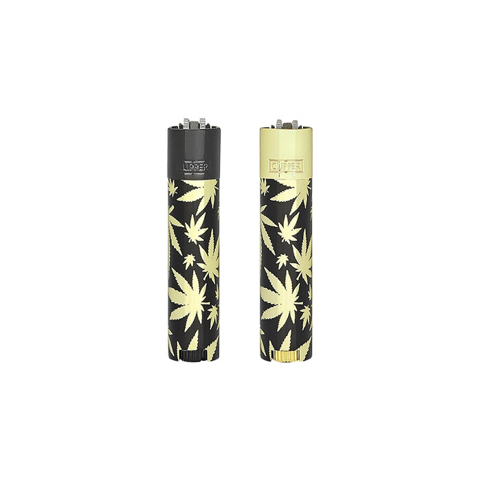 Clipper Metal Leaves Gold Lighter