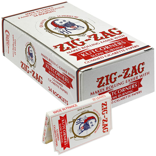 Zig-Zag Kutcorners Slow Burning Rolling Paper - Smoketokes