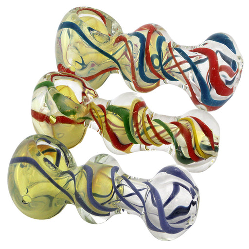 "3"" Swirl Glass Hand Pipe - Smoketokes"