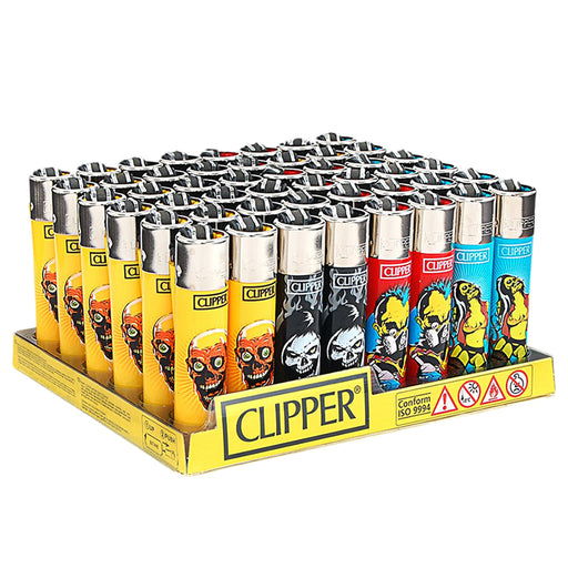 Clipper Zombie Nation Flint Lighter Display - Smoketokes