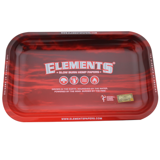 Elements Red Cloud Large Metal Rolling Tray - Smoketokes
