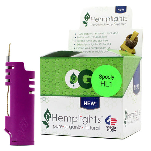 Hemplights Spooly Hemp Wick Lighter Sleeves - Smoketokes