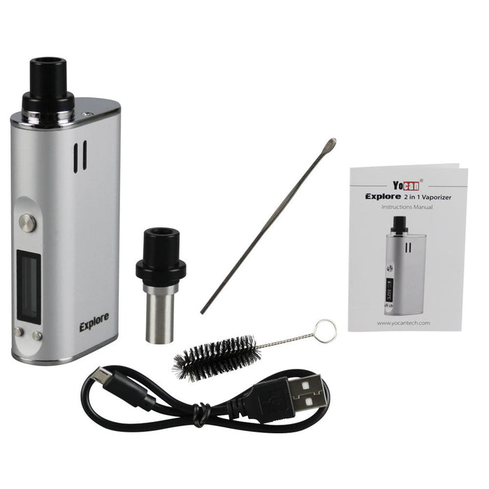 Yocan Explore Wax and Dry Herb 2-in-1 Vaporizer Kit - Smoketokes