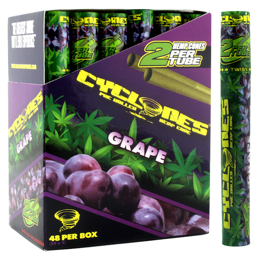 Cyclones Hemp Cone Grape Flavor - Smoketokes