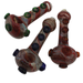 6'' Fancy Glass Hand Pipes (3 Ring) - Smoketokes