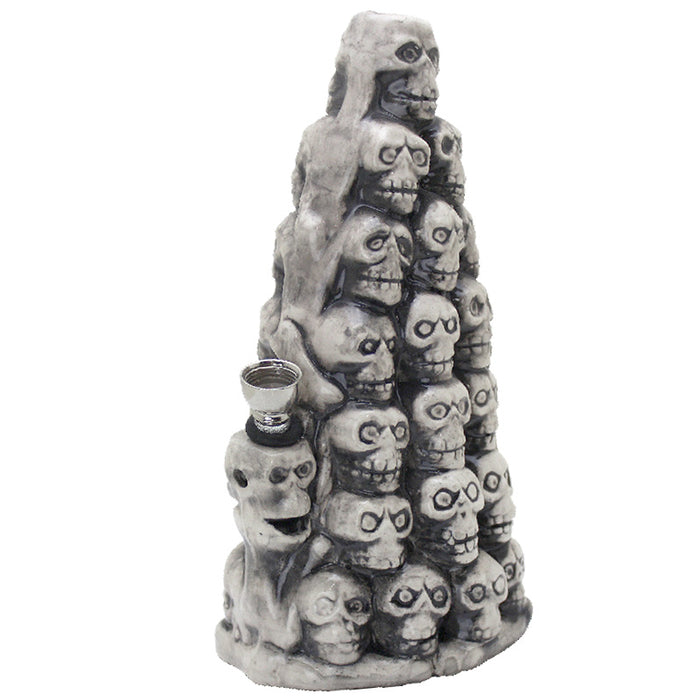 "9"" Skull Pile Ceramic Water Pipe - Smoketokes"