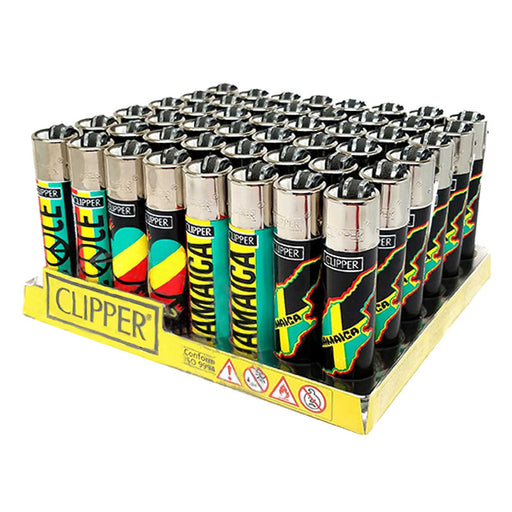 Clipper Rastafari Flint Lighter Display - Smoketokes