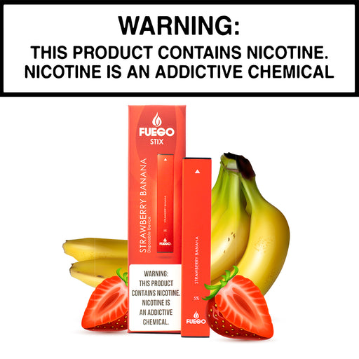 Fuego Stix Strawberry Banana (Disposable Device)