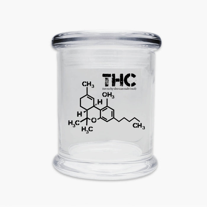 Juggz THC Molecule Glass Jar