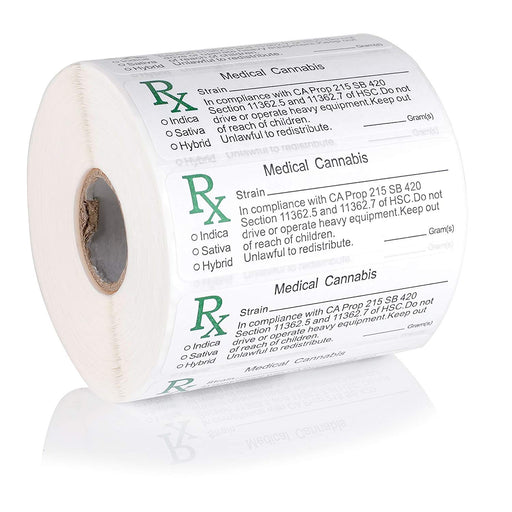 MMJ RX Labels Large Roll of 1000