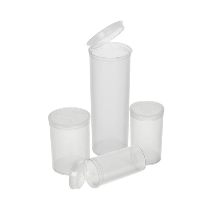 Pop Top 60 Dram Plastic Vials Case of 75