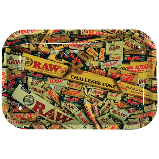 Raw Mixed Items Metal Rolling Tray