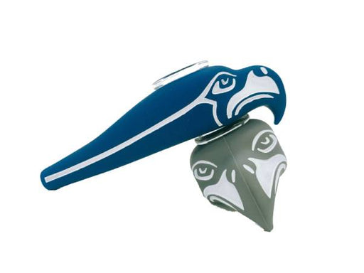 Silicone Seahawks Hand Pipe with Glass Bowl