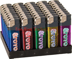 Toyo Flint Disposable Lighter Display (50 Pieces)