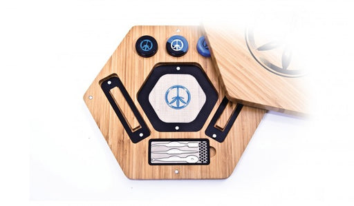 World Piece Bamboo Rolling Tray - Oil in One Medium