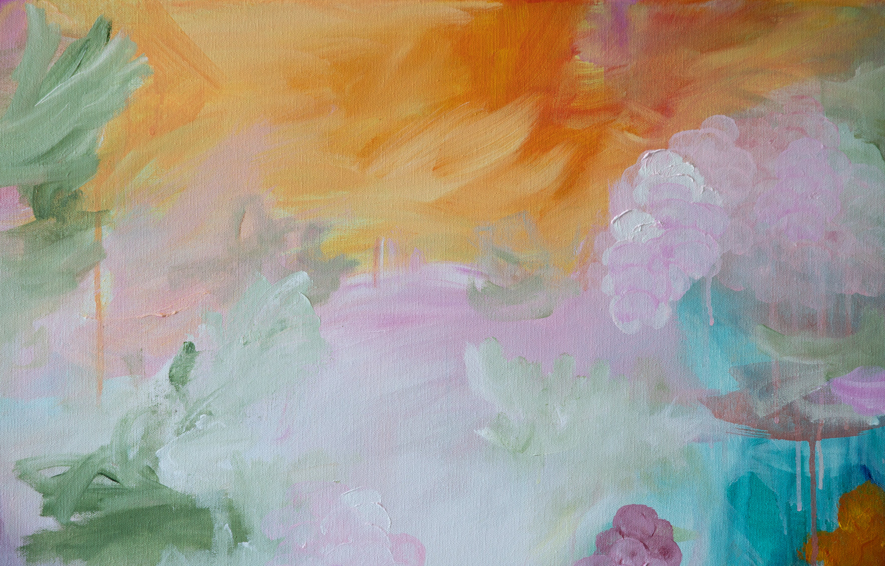 Shamelessly blooming Acrylic on canvas - Sanni Olasvuori