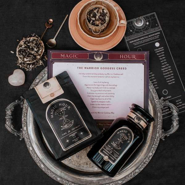 Warrior Goddess Box - Tea & Transformation subscription box | Organic healing tea & Gifts