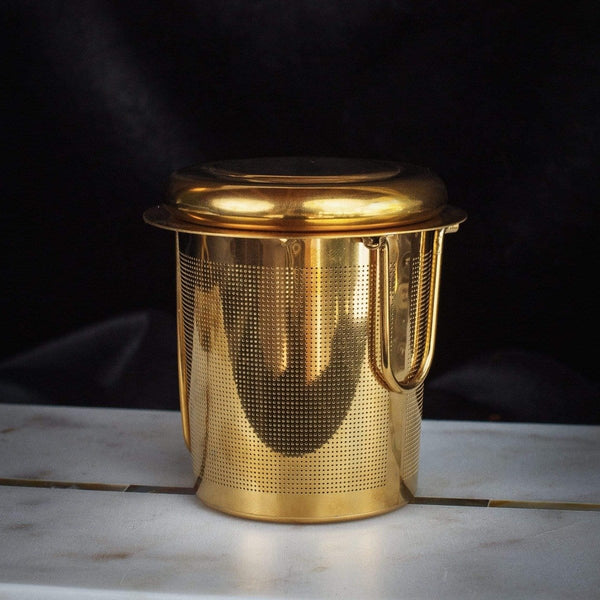 Midas Touch- Golden-Hued Tea Strainer