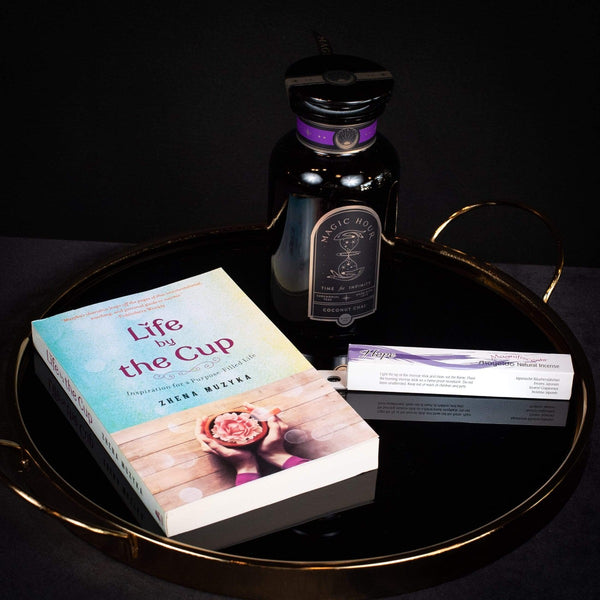 Inspired Living: Entrepreneurial Dreams Kit- Coconut Chai Jar, Shoyeido Incense- Hope, Life By The Cup Book