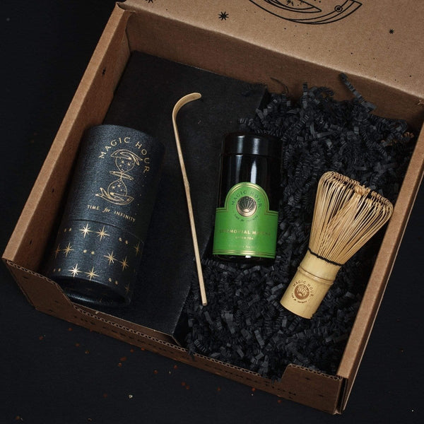 The Magic of Matcha Gift Set: Give The Gift of Mindful Tea Ceremony (Ceremonial Matcha Travel Jar, Matcha Scoop & Whisk)