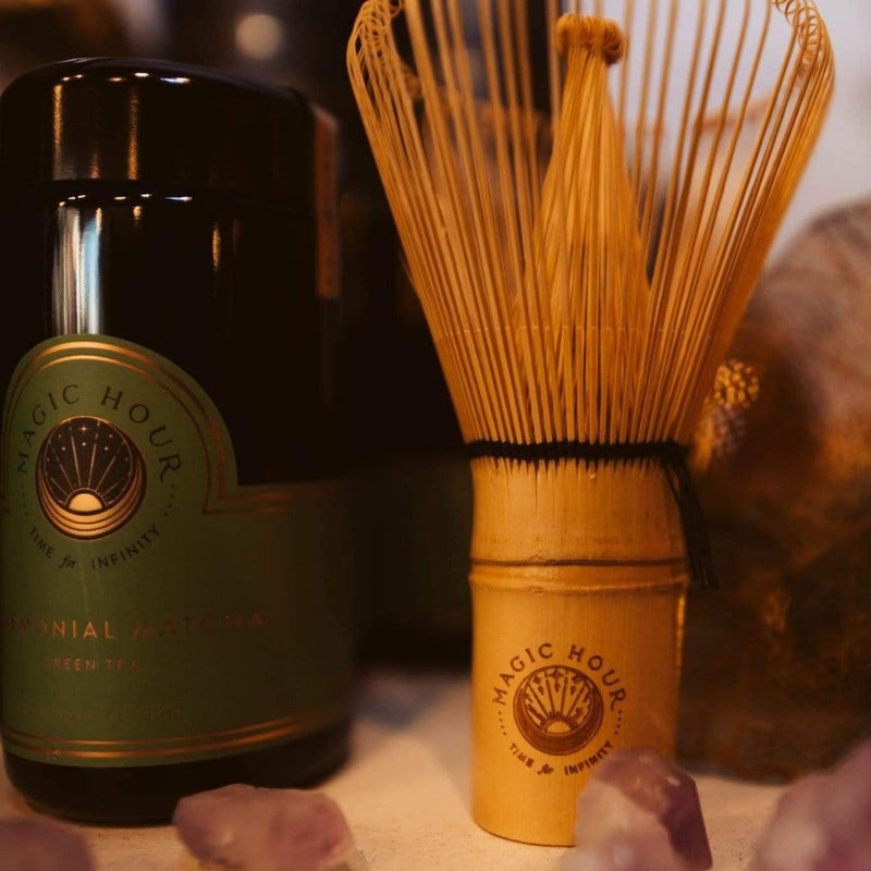Magic of Matcha Gift Set: Ceremonial Matcha Traveler Jar, Bamboo Scoop & Magic Hour Whisk