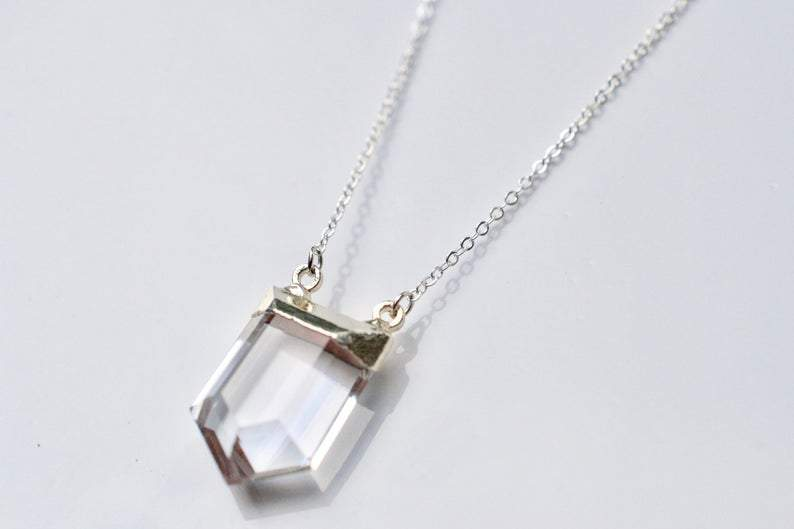 Shield Quartz Necklace