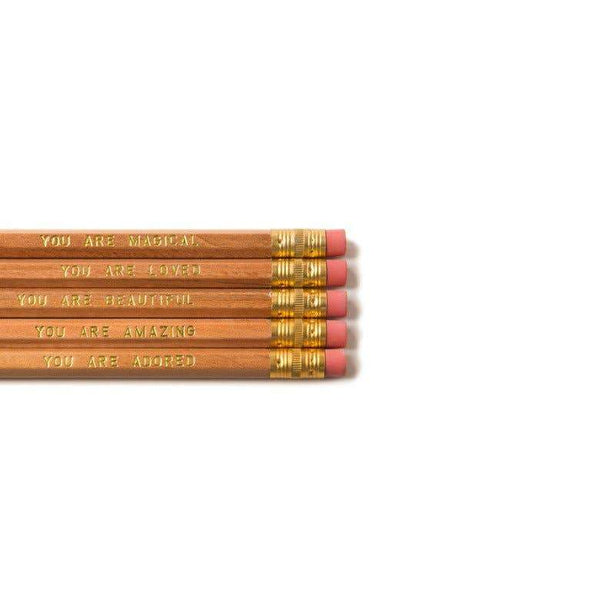 You Are Beautiful 5 Pencil Set