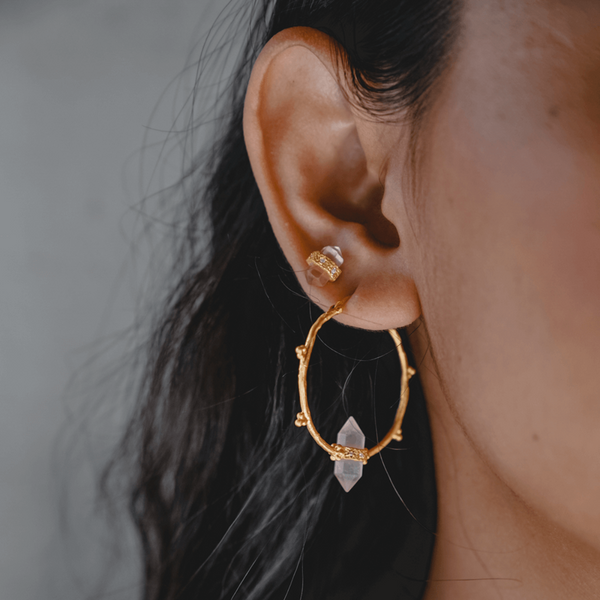 Shoot for the Moon Hoop Earrings