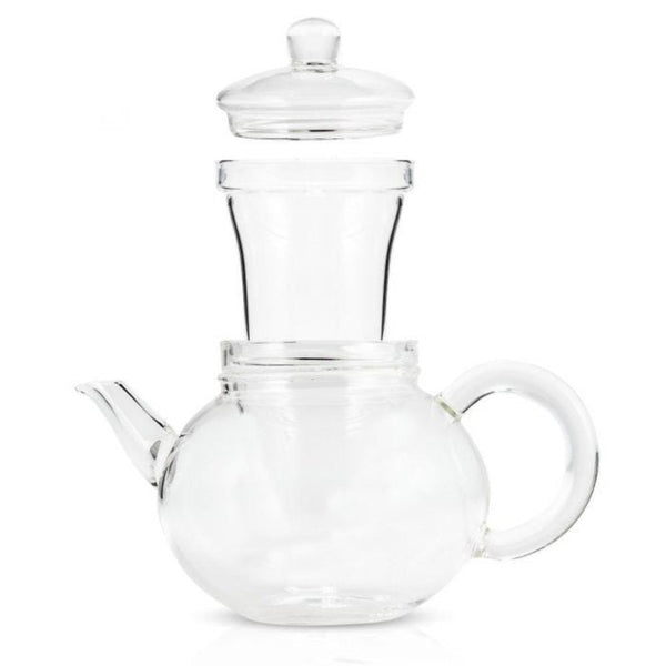 Hand Blown 32oz Glass Teapot with Infuser