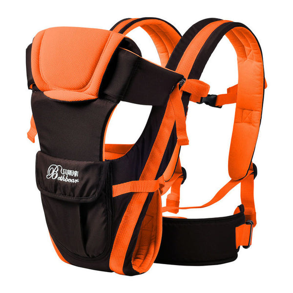 Orange Double Support Baby Carrier