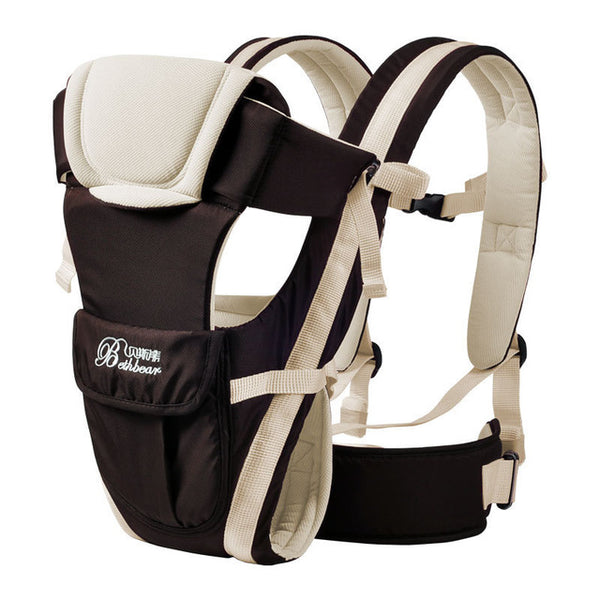 White Double Support Baby Carrier