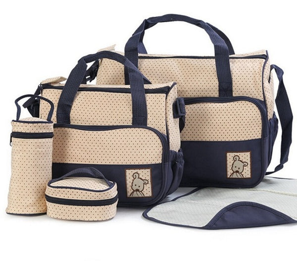 Navy Nappy Bag 5 Piece Set