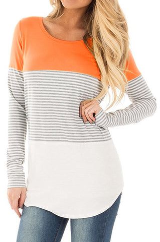 Orange Triple Layered Long Sleeve
