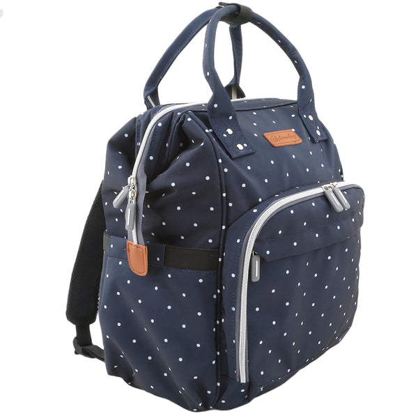 Navy Poker Dots Essentials Bag
