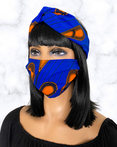 Juno (blue) | reusable face mask - Adult