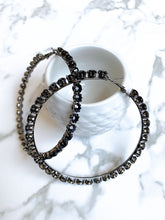 Onyx | hoop earrings