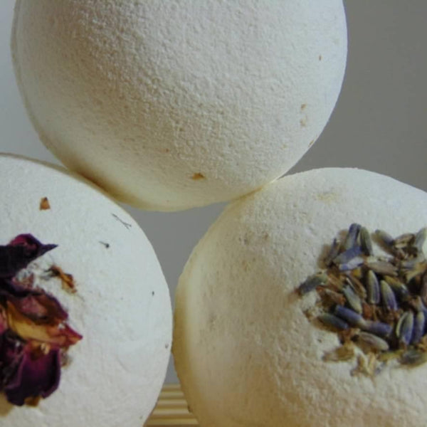 bath bombs - geranium, lavender and orange rose