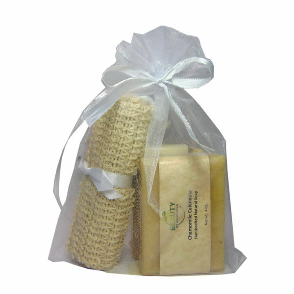 Handmade Soap Gift Set - 2 bars with sislal pouch in organza bag