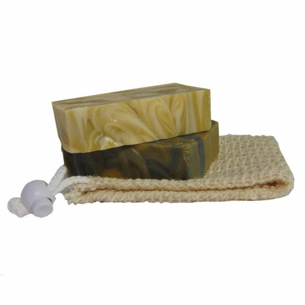 Handmade Soap Gift Set - 2 bars with sislal pouch