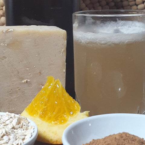 handcrafted double ale soap with oranges, oats and beer