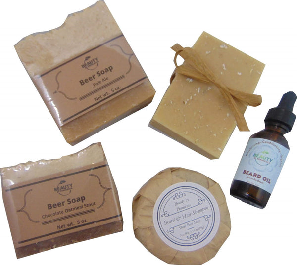 Beer Soap Gift Set with Beard Oil